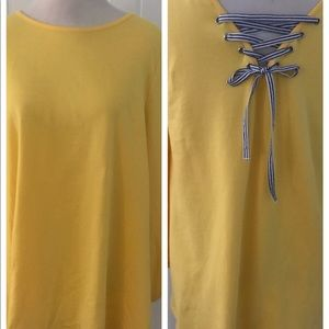 Yellow Top with Adorable Back